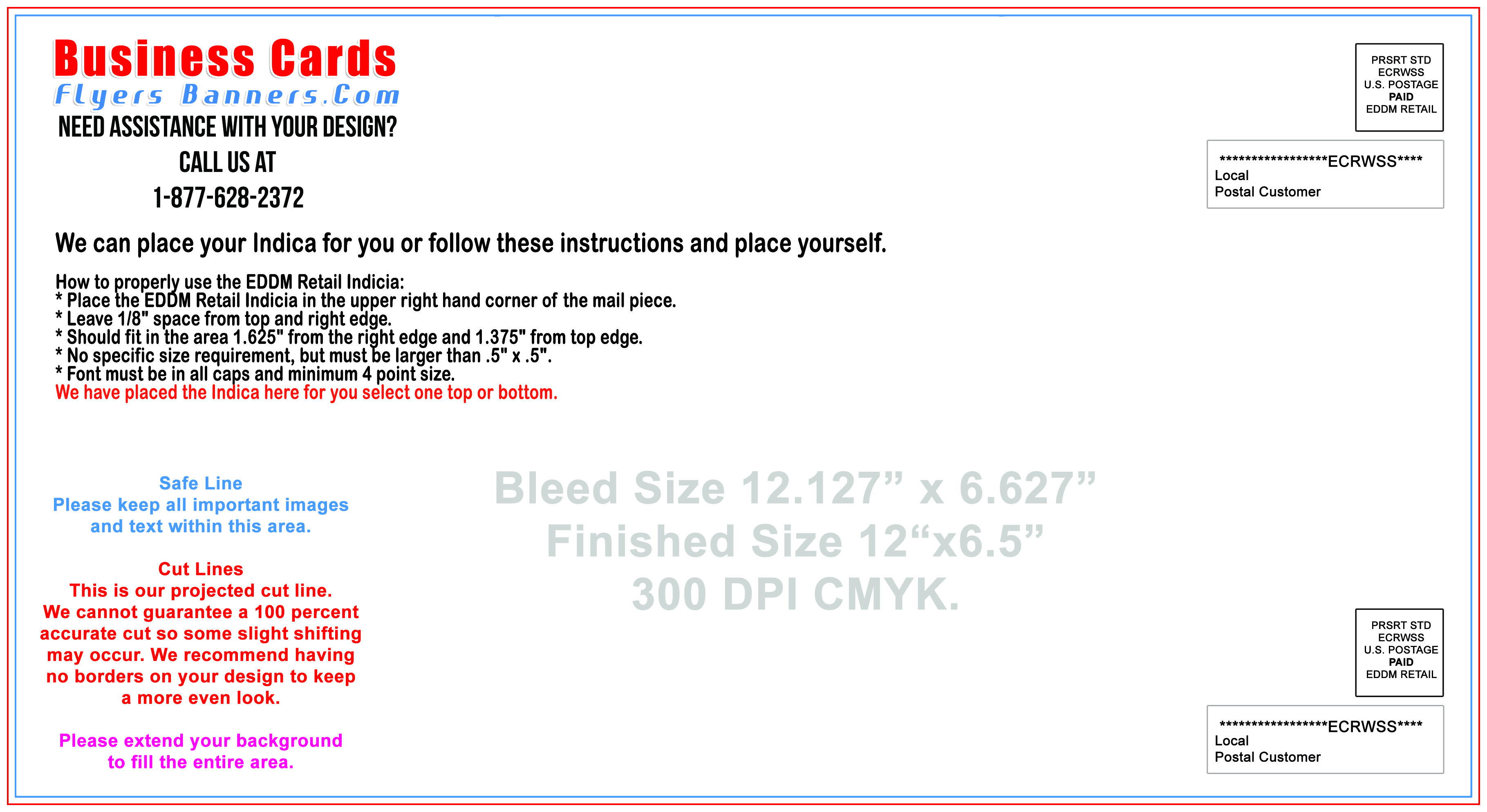 EDDM postcard Templates - Free Shipping and Low Prices