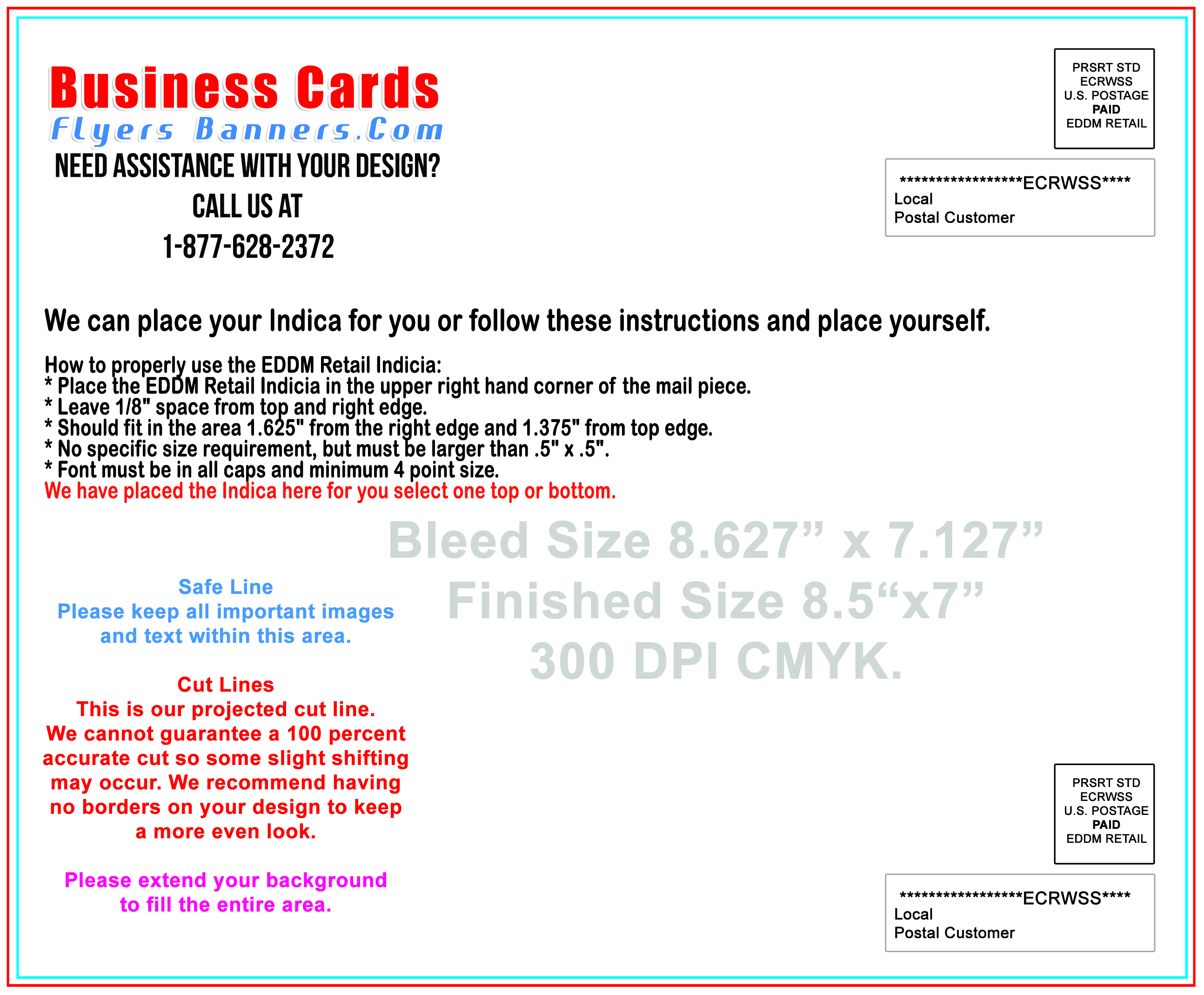 Postcard templates business cards flyers and banners for Usps every door direct mail template