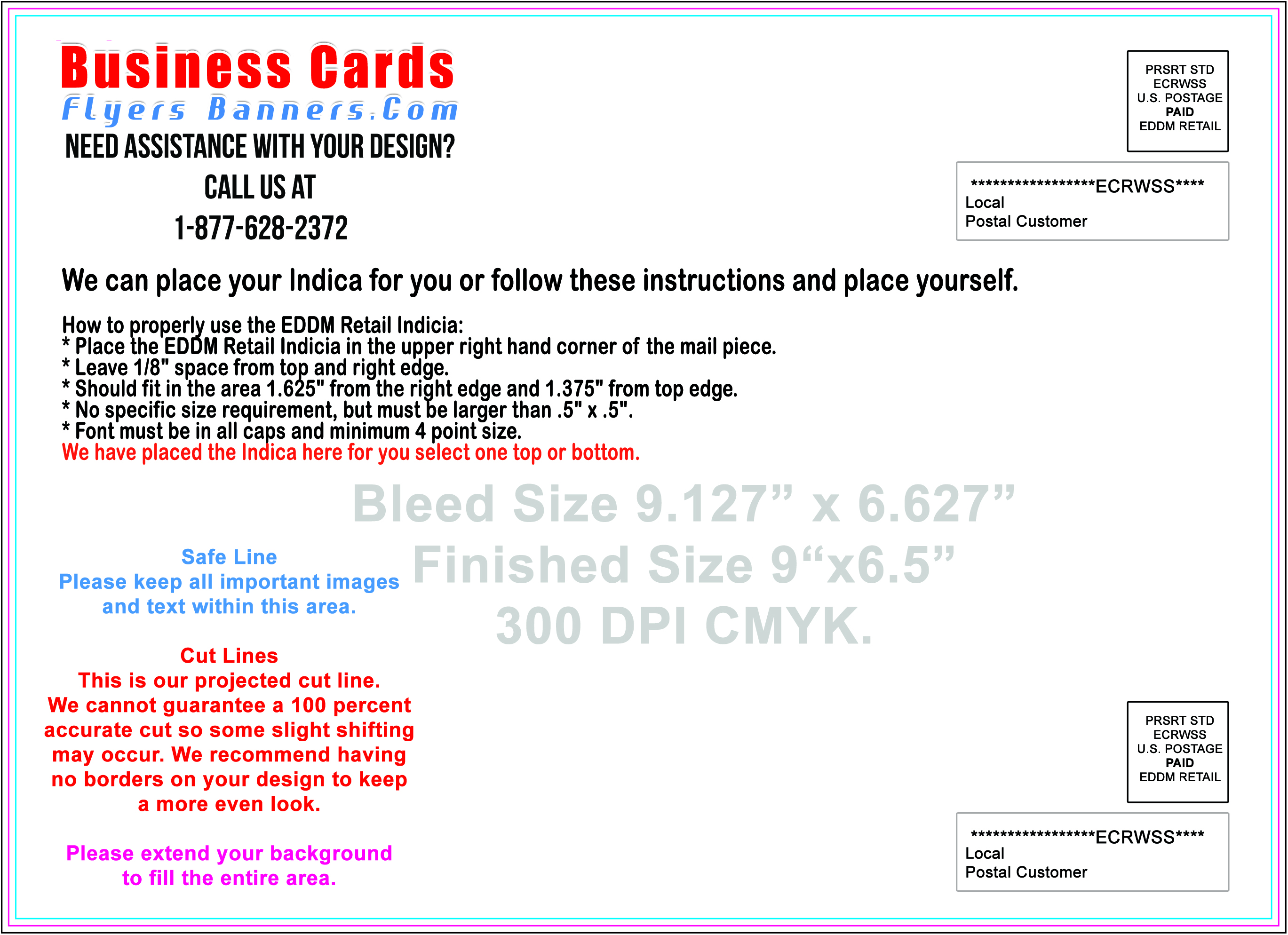 EDDM Postcard Templates Free Shipping And Low Prices - Card template free: 6x9 postcard template