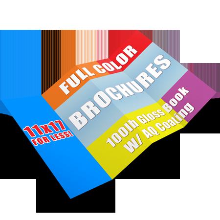 11x17 Brochure Cheap Printing High Quality Free Shipping