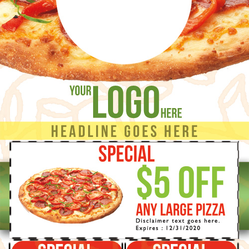 Pizza Door Hanger Template 02 Business Cards Flyers And