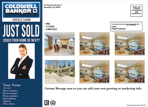 Coldwell banker eddm just sold template 3 cheap price for Real estate just sold flyer templates