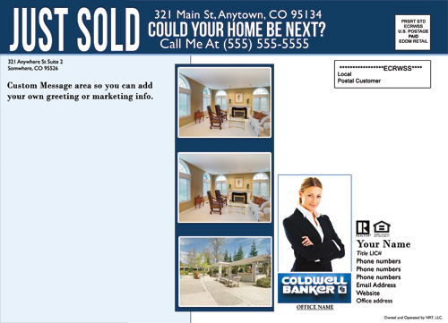 Coldwell Banker EDDM Just Sold Template - Cheap Price