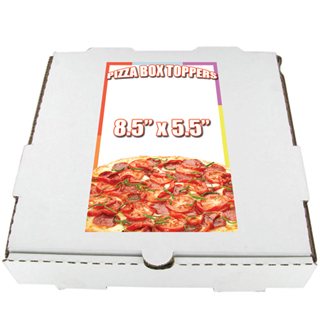 Cheap Pizza Box Topper Printing