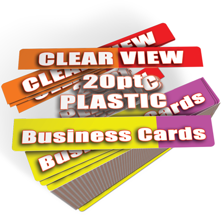 Clear Business Cards Printed Cheap 1000 for $183 w Free