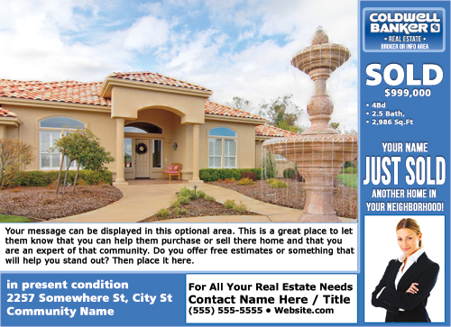 Coldwell Banker Eddm Just Sold Postcards