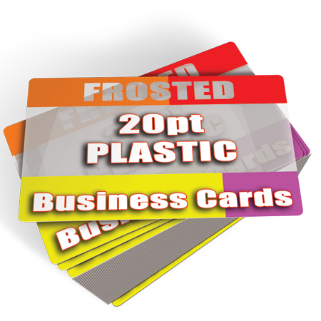 Frosted Plastic Business Cards Printed Cheap 1000 $145