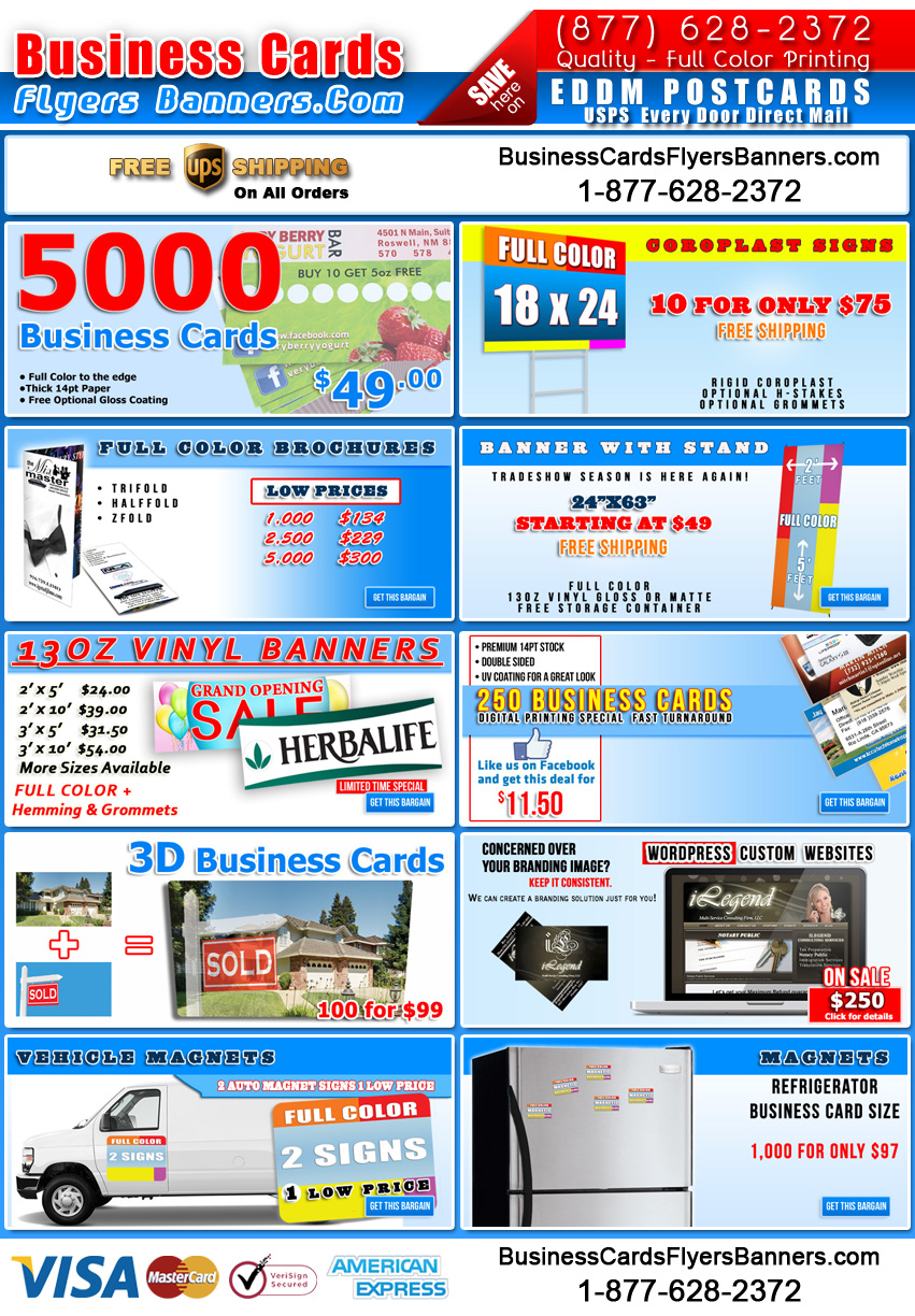 Free Graphic Design Offer - Business Cards Flyers and Banners