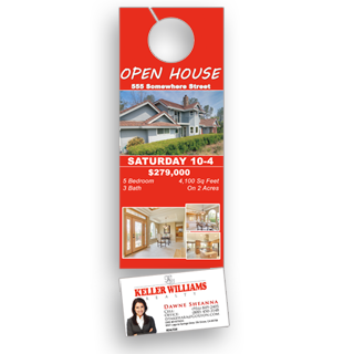 Perforated door hangers with business cards 09 cents each perforated doorhanger with business card colourmoves