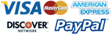 we accept Visa Mastercard Paypal Payments