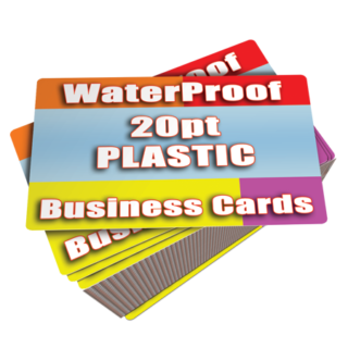 White Plastic Business Cards Printed Cheap