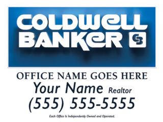 Coldwell Banker 24x18 Sign template 1w