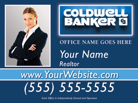 Coldwell Banker X Sign Template B Business Cards Flyers And - Coldwell banker business card template