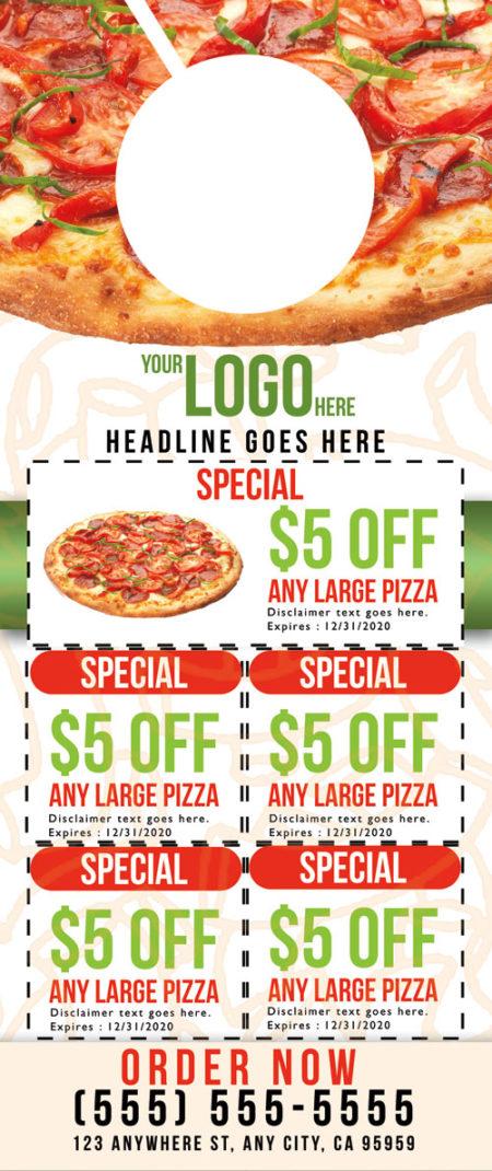 Pizza Door Hanger Template 02