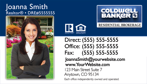 coldwell banker businesscard design 8a - Coldwell Banker Business Cards