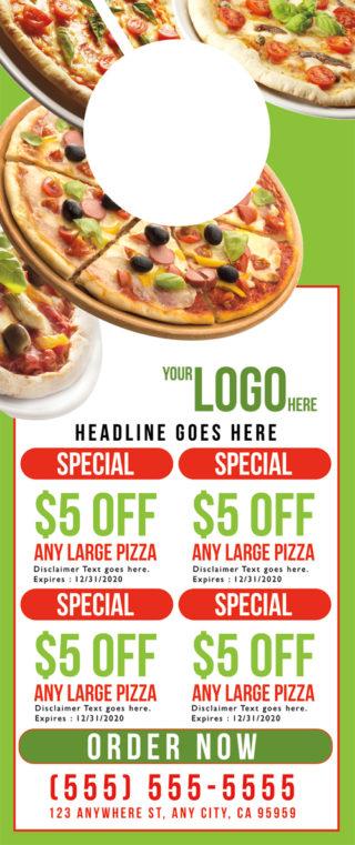 Door Hanger Pizza Template 01