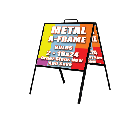 Metal A-Frame - Double sided sidewalk sign with Aluminum Panels