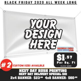 Custom Banner printing Black Friday 2020