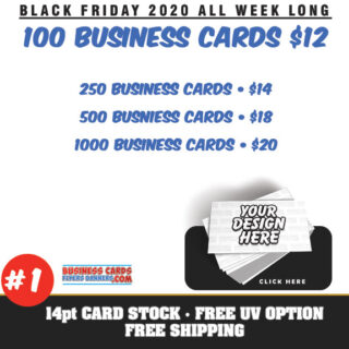black friday sale business cards 2020