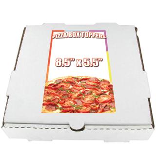 Cheap Pizza Box Topper Printing