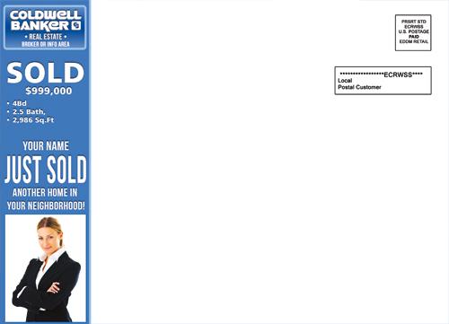 coldwell banker eddm just sold postcards. Black Bedroom Furniture Sets. Home Design Ideas