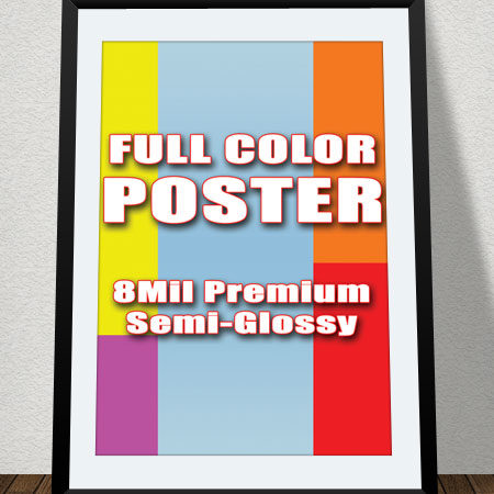 Custom Poster printing color printing Satin or Semi Gloss  A4 A3 A2 A1