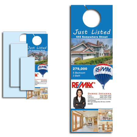 Door hangers printed cheap 1000 for 195 free ship for 10000 door hangers
